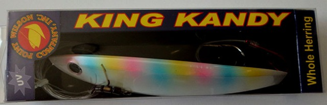 brightly colored fishing lure